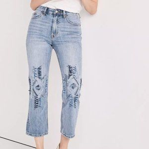 Lucky Brand Lucky Pins Southwest Patchwork Jeans